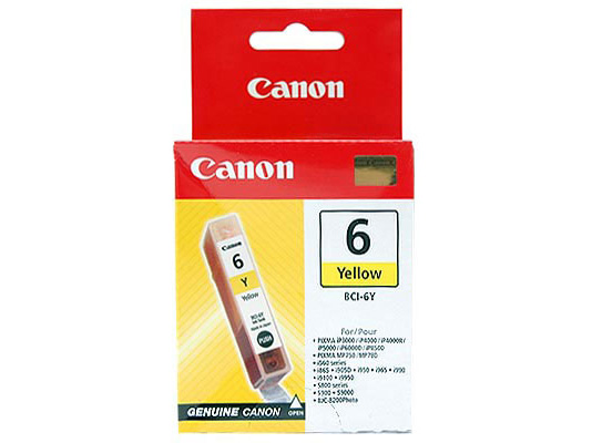 Tusz Canon BCI-6Y Yellow