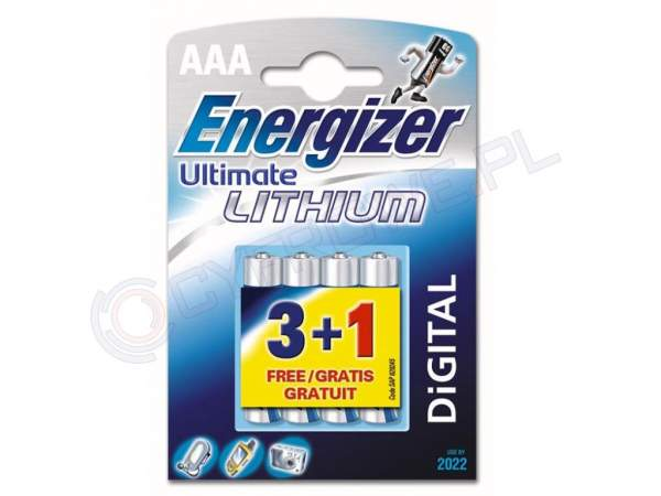 Baterie Energizer Lithium 4xAAA